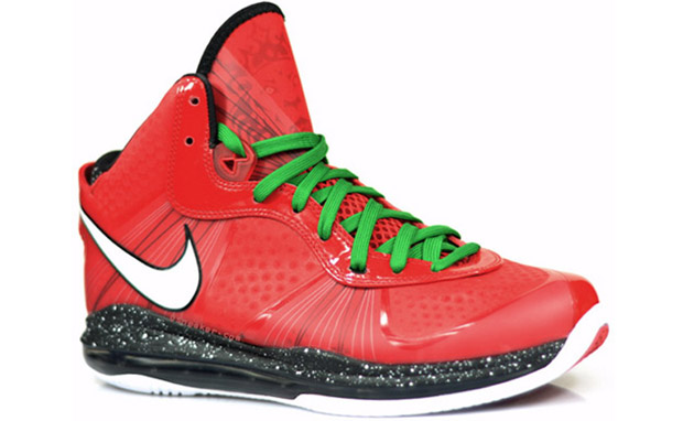 """87f8434269d8 Click Here To See More Pictures Of The Nike LeBron 8 V2 """"Christmas"""""""